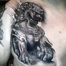 foo dog statues 100 foo dog tattoo designs for men gaurdian lions
