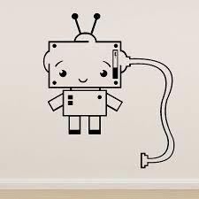 wall vinyl plug socket robot vinyl wall sticker by oakdene designs