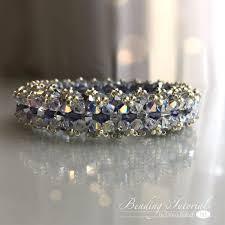 multi color swarovski crystal bracelet images Beading tutorial lady di swarovski crystal bracelet beading jpg