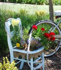 Ideas For Garden Furniture by 87 Best Chair Planters In The Garden Images On Pinterest Old
