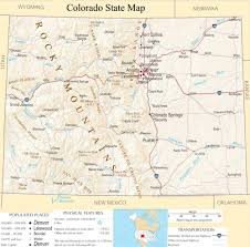 Detailed Map Of Usa by Colorado State Map A Large Detailed Map Of Colorado State Usa
