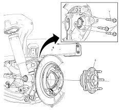 2011 cadillac srx manual repair rear wheel bearing and hub replacement