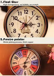 Home Decor Wall Clocks Vintage Aralm Clock Table Desk Wall Clock Retro Rural Style
