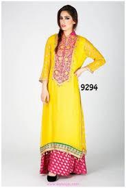 yellow bridal mehndi dresses 2018 in pakistan