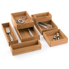 bamboo drawer organizer stackable bamboo drawer organizers the