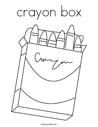 Crayon Box Coloring Page Twisty Noodle Box Coloring Pages