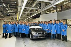 bmw car maker bmw kicks series production at the leipzig plant today