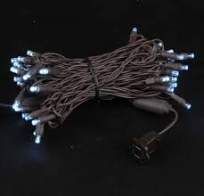 brown wire wide angle warm white 50 bulb led lights sets