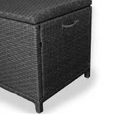 Wicker Storage Bench Decoration Tall Storage Box With Lid Small Wicker Storage