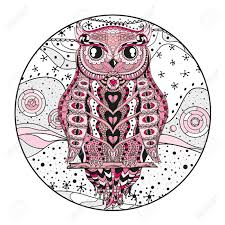 zen of design patterns mandala with owl design zentangle hand drawn circle mandala