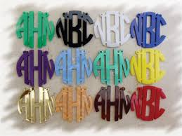monogram necklace acrylic acrylic monogram necklace special acrylic 3 initials circle