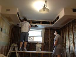 Kitchen Cabinet Soffit by Kitchen Soffit Removal Drywall Inside Custom Cabinets In Sheetrock
