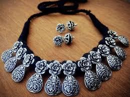 metal necklace set images Thread metal necklace set manufacturer in gujarat india by world jpeg