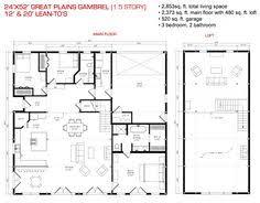 Gambrel House Floor Plans Deluxe Lofted Barn Cabin Floor Plan Gambrel House Kit With