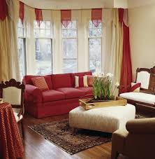 Red And Gold Damask Curtains 53 Living Rooms With Curtains And Drapes Eclectic Variety