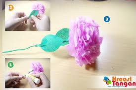 cara membuat bunga dengan kertas hias tutorial cara membuat kerajinan tangan dari kertas krep kerajinan