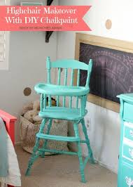 how to turn an old vintage highchair into a beautiful heirloom using a diy chalk paint recipe perfect for any baby nursery