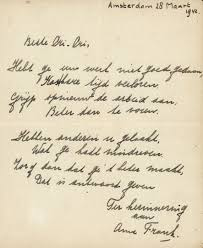 rare u0027 anne frank poem to be auctioned todayonline