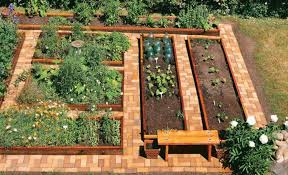 vegetable garden landscaping with bricks garden landscaping with