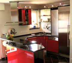 kitchen with mini bar design