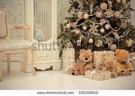 home interiors christmas new years interior christmas tree christmas stock photo 335159852