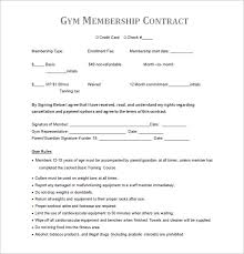 gym contract template u2013 13 free word pdf documents download