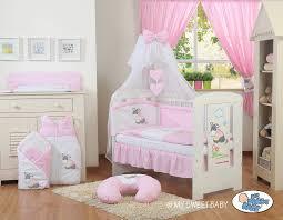 chambre bébé bourriquet parure complète lit bébé en promo fille 12 pièces