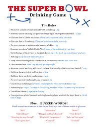printable drinking games for adults printable super bowl drinking game