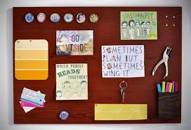 kitchen bulletin board ideas my total office makeover how to make a woodgrain magnetic memo