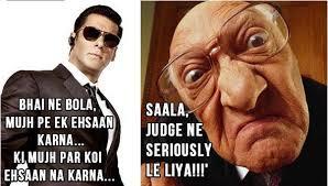 Ne Memes - funny sarcastic tweets and memes on salman khan case verdict fun