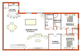 finished attic plan basement plansample floor plans software