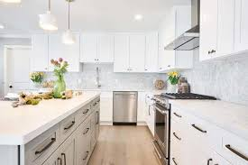 white kitchen cabinets grey island completed projects cabinetry