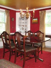 fascinating red and gold dining room 86 on glass dining room table