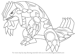 how to draw coloring pages learn how to draw groudon from pokemon pokemon step by step
