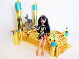 how to make a cleo de nile doll bed tutorial monster high youtube