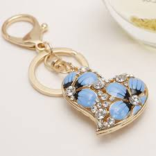 classic crystal ring holder images Online shop creative charm love heart key chain ring holder jpg