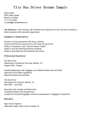 Sample Resume Objectives For Truck Drivers by Bus Driver Job Description For Resume Resume For Your Job