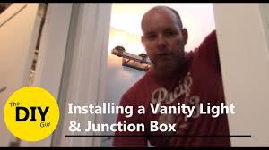 installing a vanity light and junction box kichler barrington