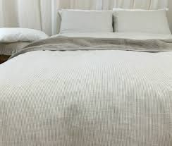amazon com natural linen ticking stripe duvet cover ticking