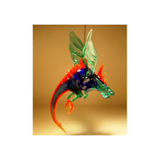 glass hanging winged ornament glasslilies
