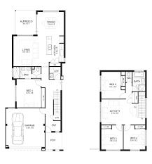 amusing double storey house plans for narrow blocks ideas best