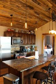 Rustic Style Kitchen Cabinets Log Cabin Style With Modern Comforts Yes Please Cabinets And