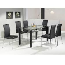 Glass Dining Sets 4 Chairs 20 Collection Of Black Glass Dining Tables And 4 Chairs Dining