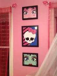 monster high art for daughter u0027s room acrylic on canvas and