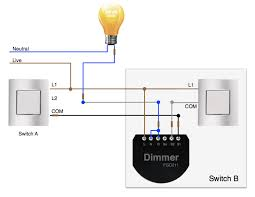 2 way lighting with dimmer in switch b