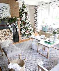 Black White and Metallic Christmas Decorations