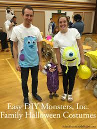 monsters inc halloween costumes adults easy diy monsters inc family halloween costume halloween