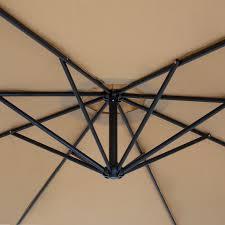 Patio Umbrella Net Walmart by Best Choice Products Patio Umbrella Offset 10 U0027 Hanging Umbrella