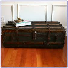 lift top trunk coffee table coffee table vintage trunk coffee table steamer lift top style