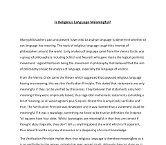 resume exles modern sophistry philosophy meaning is religious language meaningful a level religious studies